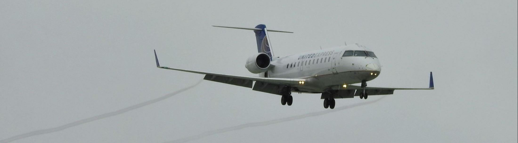 United CRJ200 Aircraft In Flight